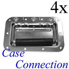 4x Einbau Klappgriff - mittel - gefedert - Stahl # Casegriff # Sprung Handle