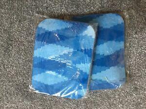 2 X Ladies Tights- Zig Zag  Pattern Tights- Size S BLUE