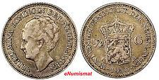 Netherlands Wilhelmina I 1930 1/2 Gulden  KM# 160 Silver