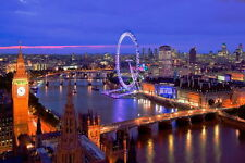 London view in colour poster A2 SIZE