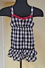 Girl's Top Black, White & Pink Size 8 by Justice Pink is shimmery So cute on
