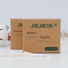JIEJIEYA® YOUR NO.1 BAMBOO/WOODEN COTTON BUDS BIODEGRADABLE VEGAN ECO FRIENDLY
