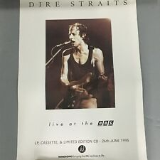 DIRE STRAITS ORIGINAL PROMOTIONAL RECORD SHOP POSTER LIVE AT THE BBC