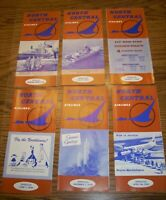 North Central Airlines system timetables 1955 Thur. 1968 Lot of 21 Timetables