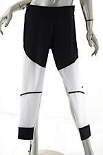 "STELLA MCCARTNEY Adidas Black White Polyester Blend ""Climalite"" Rib Leggings  M"