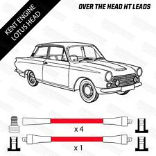 Ford Kent Block & Lotus Cylinder Head Over Head Red HT Leads