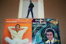 Lot of 3 Vintage Pre-Owned Vinyl Lp Albums featuring Johnny Mathis