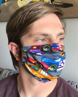 RACE CAR FANS‼️Face Mask Mouth CoverProtection Made In 🇺🇸Wash&Reuse‼️😷 🏁🏁