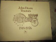 John Deere 1918 - 1976 owners Vintage Tractor Manual book