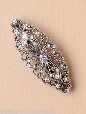 New Vintage Filigree Flower Stone Hair Barrette Clip 8cm (5816)