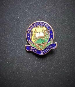 Vintage Enamel Badge Warracknabeal High School Badge by Swann & Hudson