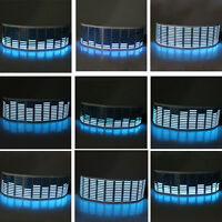45 x 11cm Sound Music Audio Activated Sensor Car LED Light Equalizer Glow Blue