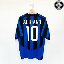 ADRIANO #10 Inter Milan Vintage Nike Home Football Shirt Jersey 2003/04 (L)