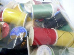 Estate Bag Full Of Used Vintage Thread and Spools