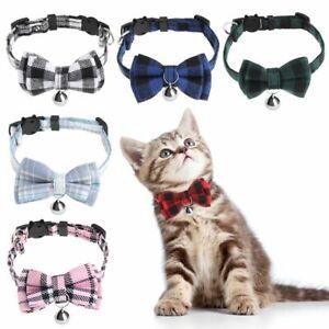 with Bell Bow Cat Buckle Puppy Collar Kitten Collar Cats Collar Pet Supplies