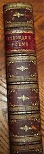 1874 leatherbound book THE POETICAL WORKS OF signed by EDMUND CLARENCE STEDMAN