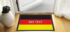 "24 X 16 "" PERSONALISED GERMAN FLAG DESIGN ENTRANCE DOOR MAT NON SLIP ADVERTISING"