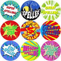 144 Superhero Speller 30mm Reward Stickers for School Teachers, Parents, Nursery