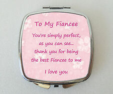 FIANCEE Compact Mirror Fun Handbag Travel Beauty Cosmetic Makeup Novelty Gift