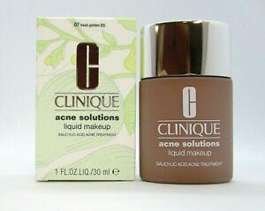 Clinique Acne Solutions Liquid Makeup ~ 07 Fresh Golden (D) ~ 1 oz / BNIB