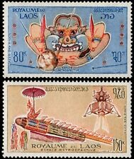 ✔️ LAOS 1973 - SPACE - MI. 361/362 ** MNH OG [LS361]
