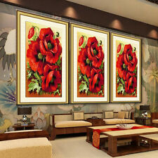 Diamond Painting Embroidery Red Rose 5D Full Square Rhinestone Cross Stitch NB