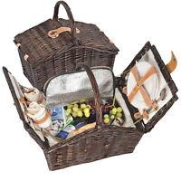 Picknickkorb aus Weidengeflecht für 2 Personen - mit Kühltasche - schöner Korb