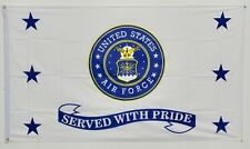 3x5 US Air Force Served With Pride Flag 3'x5' Banner Brass Grommets