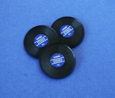 Miniature Dollhouse Set of 3 Records Blue In The Middle 1:12 Scale New