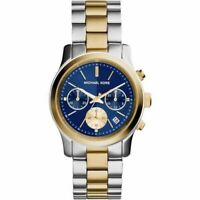 Michael Kors MK6165 Runway Two Tone Blue Face Wrist Watch for Women