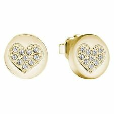 Brass Cubic Zirconia Yellow Gold Plated Costume Earrings