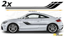 Fits Audi TT  Side Racing Stripes Decals  /Tuning Car Graphics Car Stickers