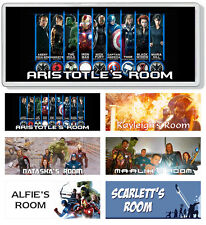 The Avengers Personalised Kids' Bedroom Door Plaque / Sign *ANY NAME / MESSAGE*
