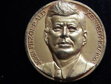 John Fitzgerald Kennedy Affer Italy High-Relief Medal! Bb522Txx