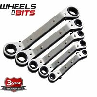 5pc Offset Ring Ratchet Wrench Set Offset Spanner Ratchet Spanner Metric Steel