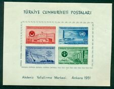 TURKEY #1054a Souvenir sheet, og, hinged, VF, Scott $95.00