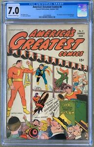 America's Greatest Comics #8 (1943) CGC 7.0 -- O/W to White pages Captain Marvel