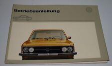 Betriebsanleitung VW K70 / K 70 Bedienungsanleitung Handbuch Stand August 1972!