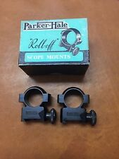 "Rare NOS Parker Hale Roll-Off Scope Mounts Rings 7/8"" High Height"