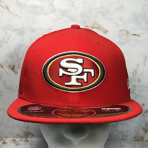 San Francisco 49ers 59FIFTY New Era Mens Size 7 1/8 NFL Official Hat Cap RED