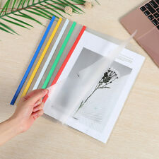 Office 5Pcs Pumping Folder Storage Files Documents Papers Clips Supply A4 Sizes