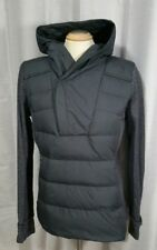 Lululemon Sz 12 Fluff Off Pullover Gray Black Rulu Down Filled EUC cuffins