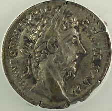 AD 176-179 Roman Denarius Silver Coin Marcus Aurelius Rome Mint ANACS EF-40 AKR