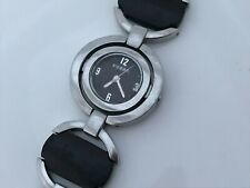 Fossil Ladies Watch Silver/Brown Metal/Wood Band Analog Women Wrist Watch 5ATM
