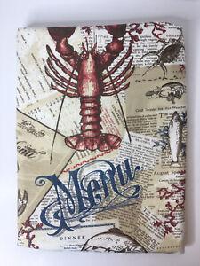 Pottery Barn Table Runner Seafood Restaurant Menu Lobster New England