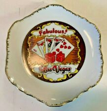 The FABULOUS LAS VEGAS Strip Souvenir Plate Midcentury Vintage