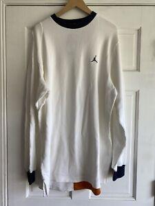 Q57 Air Jordan Retro 20th Anniversary Waffle Knit Thermal Shirt Mens XL