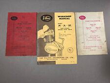 VINTAGE AUTOMOBILIA Spare Parts List VILLIERS Motorcycle Engines 1950s//60 SELECT