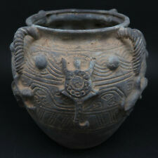 Unresearched Ancient Bronze Pot Vessel with Animal Motifs Near Eastern