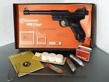 Vintage Crosman Mark II Target Pistol .177 Caliber holds CO2 box and supplies